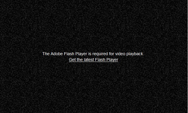 Adobe Flash Not Working